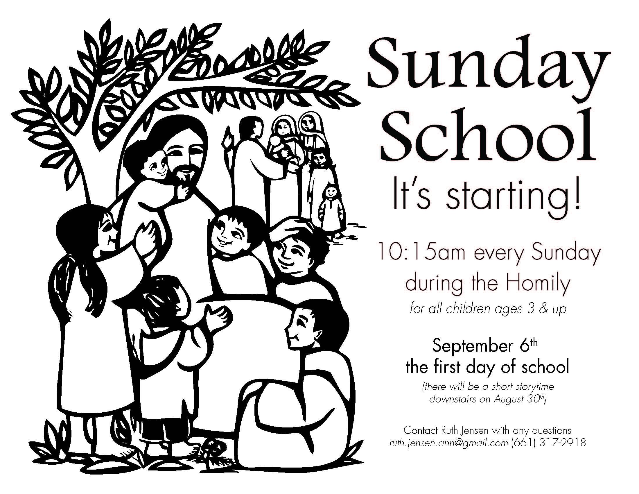 Sunday school flyer 2015